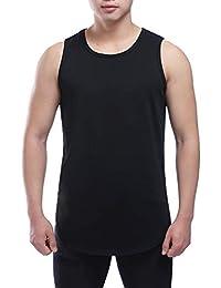 Men's Round Neck Side Slit Undershirts Tank Vest