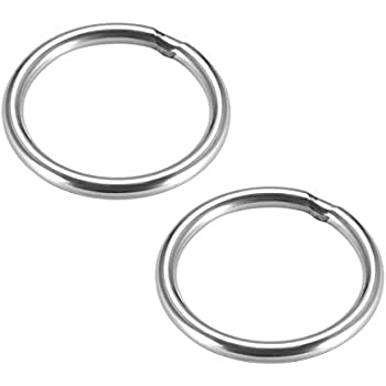 uxcell Stainless Steel O Ring 20mm Outer Diameter 3mm Thickness Strapping Welded Round Rings 15pcs