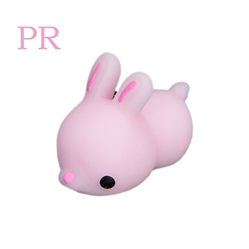 Mini Rabbit Mobile Phone - CosCosX 1 Pcs Super Soft Squishy Slow Rising Mini Cute Rabbit Reduce Pressure Kawaii Kids Toy Phone Charms Home Decoration