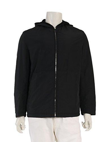(エルメス) HERMES 中綿ジャケット ナイロン カシミヤ 黒 リバーシブル フード付き 中古 B07F2ZKYBT  -