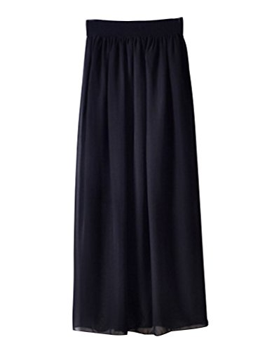 Unique Taille Jupe Casual Haute Longue Noir Mesdames YouPue Jupe vase Jupe Plisse Taille Bohmienne FP6w7xSq