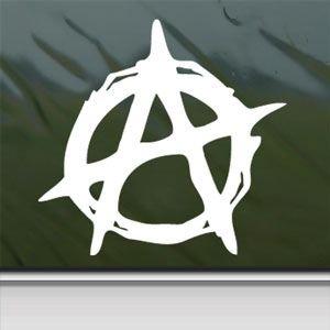 Christian Anarchy Symbol White Sticker Decal Car Window Wall Macbook Notebook Laptop Sticker Decal
