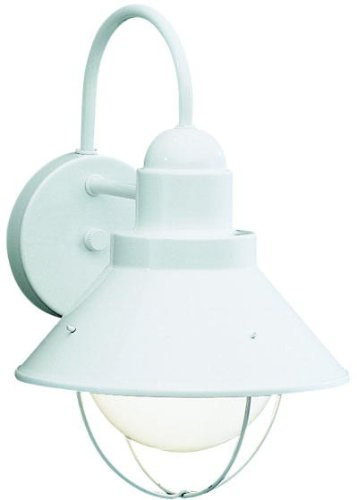 Kichler  9022WH Seaside Outdoor Wall Lantern, White
