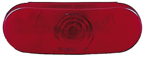 Peterson 421R Red 6.5-Inch Oval Stop Turn and Tail -