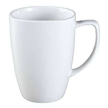 Corelle Square 12-Ounce Mug, Pure White (Set of 8)