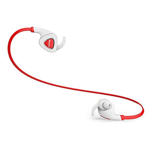 Duo Stereo Headset (Teaeshop Wireless Bluetooth Headphones Stereo Headset Earphones with Mic Handsfree for Smartphones Cellphones Mobile Phone Tablet (Red))