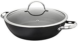 Cooks Standard 12-Inch Hard Anodized Nonstick All Purpose Pan with Lid, Black