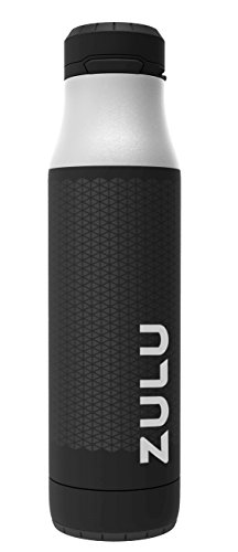 ZULU Ace Stainless Steel Vacuum Insulated Water Bottle with Removable Base, Black, 24 oz.