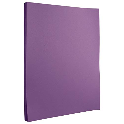 JAM PAPER Colored 24lb Paper - 8.5 x 11 - Violet Recycled - 100 Sheets/Pack
