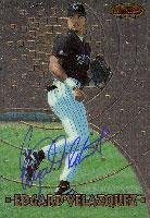 Edgard Velazquez Colorado Rockies 1997 Bowman's Best Autographed Card. This item comes with a certificate of authenticity from Autograph-Sports. Autographed