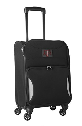 NCAA Texas A&M Aggies Lightweight Nimble Upright Carry on Trolley, 18-Inch, Black by NCAA