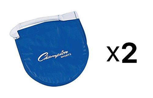 Champion Sports Shot Put & Discus Carrier Reinforced Vinyl Bag w/ Flap (2-Pack)