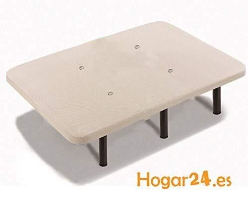 🥇 HOGAR 24 Base tapizada + 6 Patas de Metal con Tejido 3D y válvulas de transpiración-80x180cm-Patas 26cm