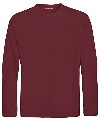 DRI-Equip Youth Long Sleeve Moisture Wicking Athletic Shirts,XS-Maroon