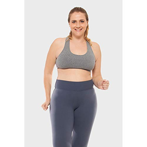 Top Plus Size Liso Fitness Cinza-0050