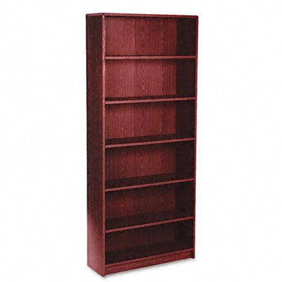 case, 6 Shelves, 36 W by 11-1/2 D by 84 H, Mahogany ()