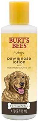 Burt's Bees for Dogs All-Natural Paw & Nose Lotion with Rosemary & Olive Oil | For All Dogs and Puppies, 4oz
