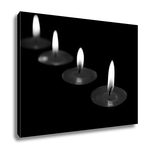Ashley Canvas Red Candles Burning In A Dark Space, Kitchen Bedroom Living Room Art, Black/White 24x30, AG6514273 by Ashley Canvas