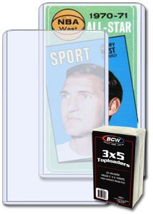 BCW Tall ( 3 X 5 ) Topload Holder (25 Holders/pack - Classic 3x5 Size) Tall Basketball, Football, Widevison, Non-sport & Sports Trading Cards Top Load - Sportcards Card Collecting Supplies