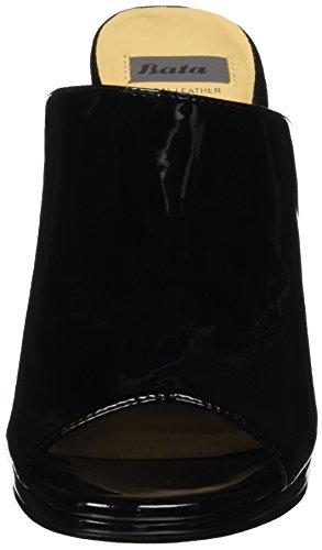 BATA 7616551, Sandalias de Punta Descubierta para Mujer Negro (Nero)
