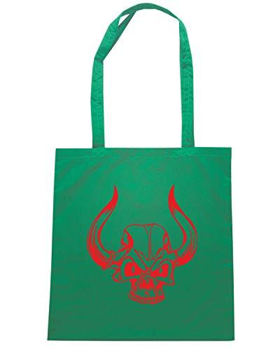 Borsa Shopper Verde FUN1187 DEMON SKULL