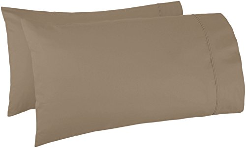 (500 Thread Count 100% Egyptian Cotton Pillow Cases,Sand Standard Pillowcase Set of 2, Long-Staple Combed Pure Natural 100% Cotton Pillows for Sleeping,Soft & Silky Sateen Weave Bed Pillow Cover. )