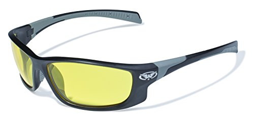 Global Vision Eyewear Hercules 5 Safety Glasses with Matte Black Frames and Yellow Tint - Eyewear Corp Global Vision