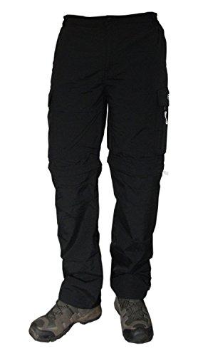 Herren Wander-Hosen | Trekking-Hose mit Zipp-Off Funktion von Fifty Five - Jack black M - und Ouick Dry Technologie für Outdoor-Bekleidung