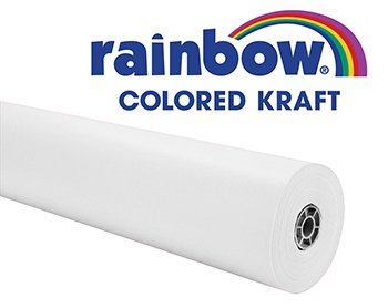 Rainbow Duo-Finish Fiber Light-Weight Kraft Paper Roll, 40 lb, 36 in X 100 ft, White by Colors of Rainbow