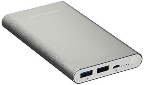 POWERADD 2nd Gen Pilot 2GS 10000mAh Power Bank, Dual USB Port 3.4A Portable Charger with High-Speed Charge for iPhone, iPad, Samsung, Mobile Phones and Tablet- Silver - High Speed Pilot