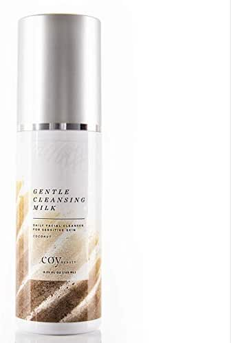 Gentle Cleansing Milk, Sensitive Skin - Coconut Scented Moisturizing Face Wash - by Coy Beauty