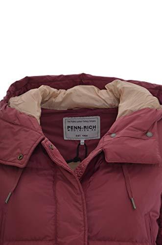 4 Donna Giubbotto Piumino Tasche Rosa Con Woolrich Penn Cappuccio By rich 6YpgqBwnR