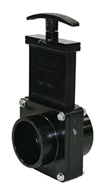 "Valterra 5202 ABS Gate Valve, Black, 2"" Spig x Slip by Valterra Products"