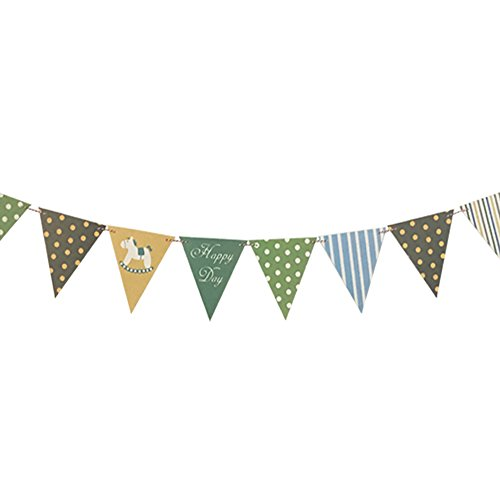 Pennant Banner - Colorful Dot Decoration Banners Triangle Flags 12 Pcs/10 Feet]()