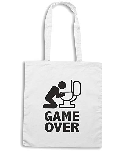 Bianca GAME OVER PUKE BEER0060 Shopper TOILET Borsa Tq7S55