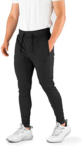 Contour Athletics Mens Joggers Cruise Sweatpants for Men with Zipper Pockets