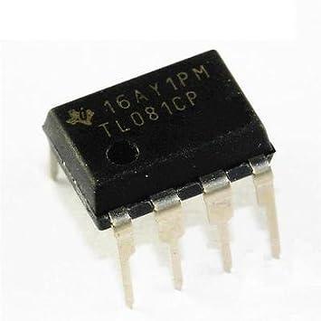 5pcs TL081 TL081CP IC jfet entrada amplificadores operacionales DIP-8 nuevo