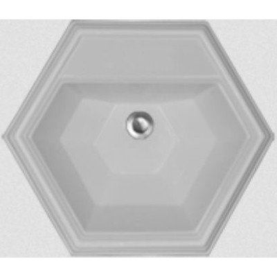 Advantage Series Edgefield Self Rimming Hexagon Bathroom Sink Sink Finish:  Sterling Silver Microban, Faucet