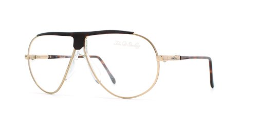 John Sterling 2004 49A Gold and Black Authentic Men Vintage Eyeglasses - 2004 Glasses Authentic
