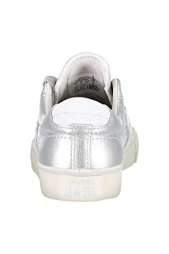 Leather Sneakers Femme turtledove Converse Silver Lifestyle 095 Basses pure white Pro Vulc Ox Multicolore WwxnRqEFn