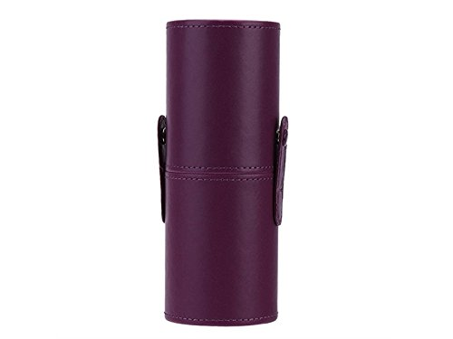 Hezon Leather Waterproof Cosmetic Brush and Pen Holder Storage Makeup Empty Holder (Purple) EASY TO USE by Hezon