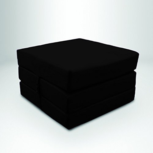 Fold Out Foam Cube Foot Stool Bed Single Cotton Twill Guest Bed - Black & Fold Out Foam Cube Foot Stool Bed Single Cotton Twill Guest Bed ... islam-shia.org