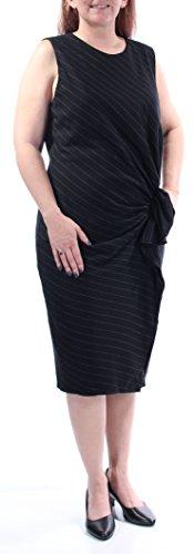 Ralph Lauren $225 Womens New 1115 Black Sleeveless Sheath Dress 14 B+B