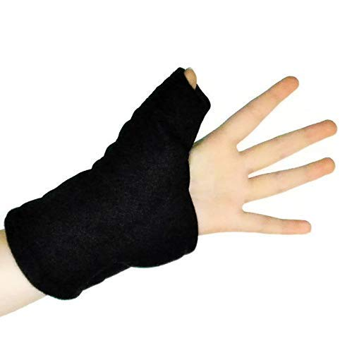 Hot Cold Thumb Compression Wrap, Right or Left Hand, Wrist Microwave Heating Pad, Therapeutic Adjustable Reusable, Arthritis Carpal Tunnel Tendonitis Pain