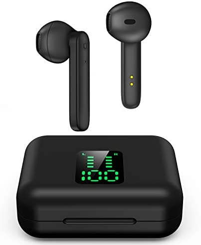 Bluetoooth 5.0 Wireless Earbuds in-Ear Wireless Headphones Sport Bluetooth Headphones Hi-Fi Stereo Sweatproof Bluetooth Earphones Buit-in Mic for Work Running Travel Gym