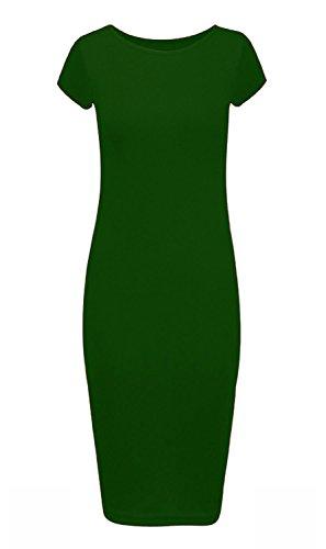 taille Robe femmes grande courtes taille 8C26 pour Bouteille unie longue Vert UK manches 6CqrWCwIn