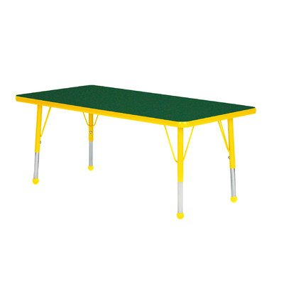Creative Colors N3048YL-SN Activity Table, Self-Leveling Glides, Standard Height, 30″ x 48″, Rectangle, Gray Nebula Top, Yellow Edge For Sale