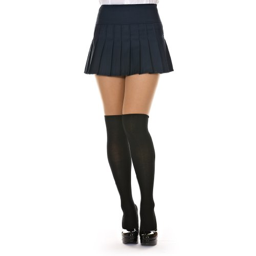 Dani's Choice Basic Solid Pleated Mini Skirt (L, Navy Blue) at ...
