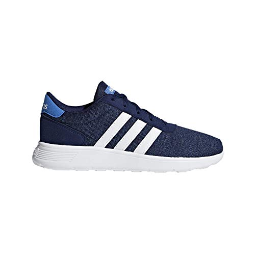 adidas Lite Racer K Boys' Toddler-Youth Running 3 M US Little Kid Dark Blue-White-Blue