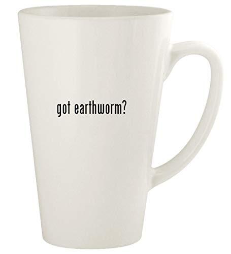- got earthworm? - 17oz Ceramic Latte Coffee Mug Cup, White